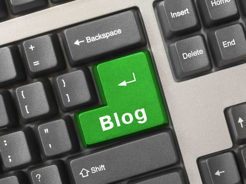 Blog Key on Keyboard